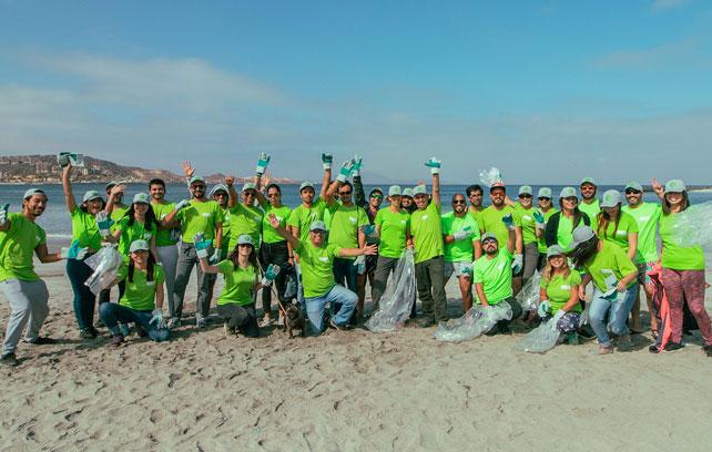 Norte Verde recogió 120 kilos de basura en Totoralillo
